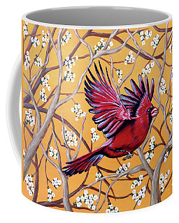 Cardinal In Flight Coffee Mug