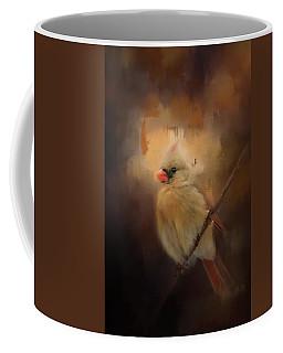 Cardinal In The Evening Light Bird Art Coffee Mug