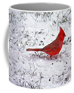 Cardinal In The Snow Coffee Mug by Suzanne Stout