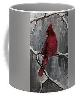 Cardinal North Carolina State Bird In Snow Coffee Mug