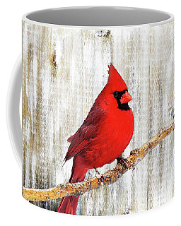 Cardinal Rustic Art Coffee Mug