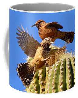 Coffee Mug featuring the photograph Careful Landing by Marilyn Smith