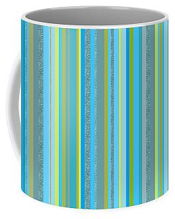 Caribbean Blue Decorative Stripe Coffee Mug