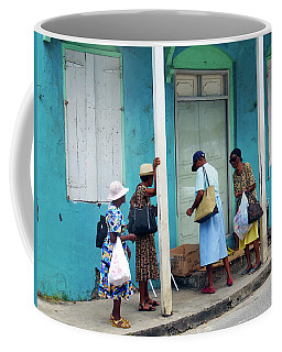 Coffee Mug featuring the photograph Caribbean Blue, Speightstown, Barbados by Kurt Van Wagner
