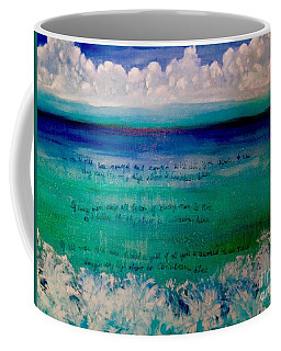 Caribbean Blue Words That Float On The Water  Coffee Mug