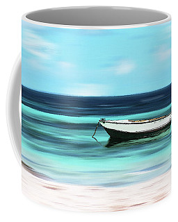Caribbean Dream Boat Coffee Mug by Deborah Smith
