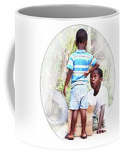 Caribbean Kids Illustration Coffee Mug