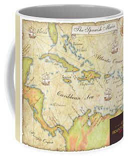 Coffee Mug featuring the digital art Caribbean Map II by Unknown