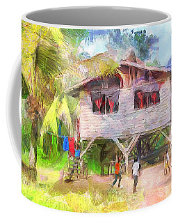Caribbean Scenes - Country House Coffee Mug