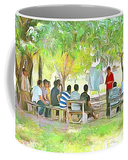 Caribbean Scenes - Meeting Under De Tree Coffee Mug