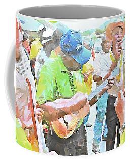 Caribbean Scenes - Parang Musicians Coffee Mug by Wayne Pascall