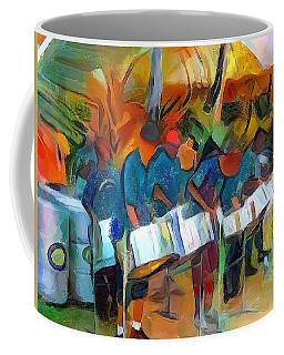 Caribbean Scenes - Steel Band Practice Coffee Mug