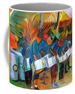 Caribbean Scenes - Steel Band Practice Coffee Mug by Wayne Pascall