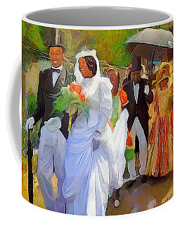 Caribbean Scenes - Tobago Ole Time Wedding Coffee Mug