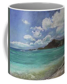 Coffee Mug featuring the pastel Caribbean Sea Day Antigua by Robin Maria Pedrero