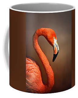 Caribean Flamingo Portrait Coffee Mug