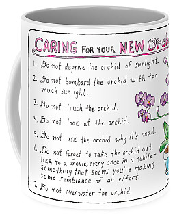 Caring For Your New Orchid Coffee Mug