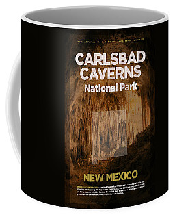 Carlsbad Caverns National Park In New Mexico Travel Poster Series Of National Parks Number 09 Coffee Mug