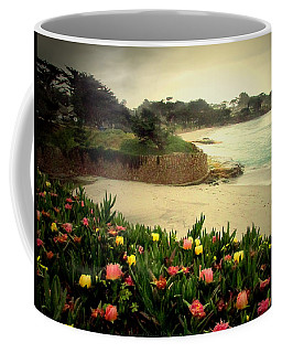 Carmel Beach And Iceplant Coffee Mug