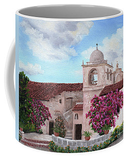 Carmel Mission In Spring Coffee Mug by Laura Iverson