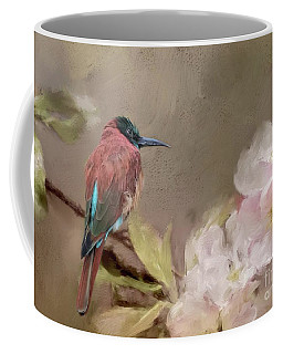 Carmine Bee-eater Coffee Mug by Eva Lechner