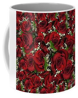 Carmine Roses Coffee Mug