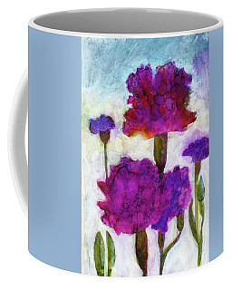 Coffee Mug featuring the painting Carnations by Julie Maas