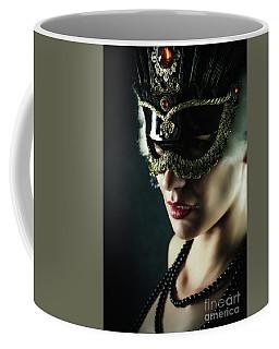 Coffee Mug featuring the photograph Carnival Mask Closeup Girl Portrait by Dimitar Hristov