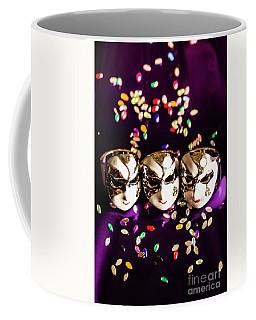 Carnival Mask Jewelry On Purple Background Coffee Mug