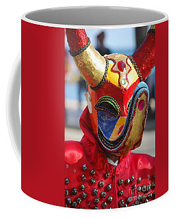 Carnival Red Duck Portrait Coffee Mug