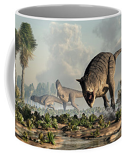 Carnotaurs On The Hunt Coffee Mug