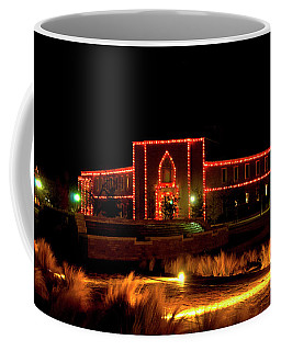 Coffee Mug featuring the photograph Carol Of Lights At Science Building by Mae Wertz