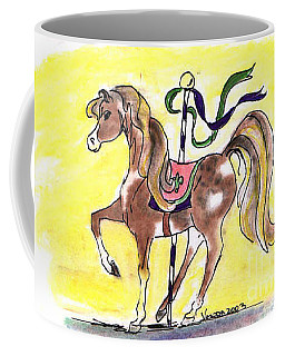 Coffee Mug featuring the drawing Carousel Horse by Vonda Lawson-Rosa
