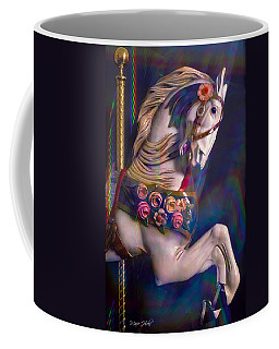 Coffee Mug featuring the photograph Carousel Memories by Marie Hicks