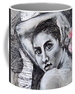 Coffee Mug featuring the drawing Carried Away by Mary Schiros