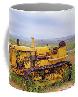 Coffee Mug featuring the photograph Carrizo Plain Bulldozer by Marc Crumpler