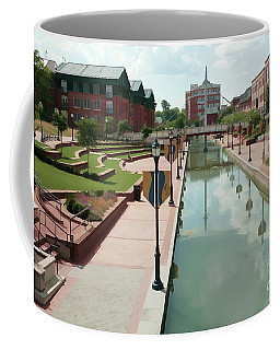 Carroll Creek Park In Frederick Maryland With Watercolor Effect Coffee Mug