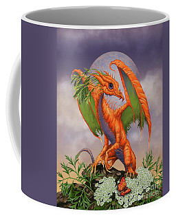 Coffee Mug featuring the digital art Carrot Dragon by Stanley Morrison