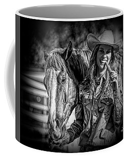 Carrots Cowgirls And Horses  Black Coffee Mug