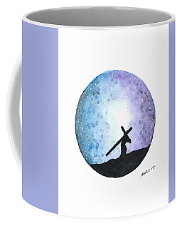 Carrying The Cross Coffee Mug by Edwin Alverio