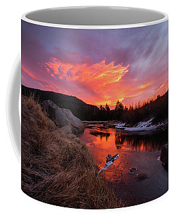 Carson River Reflecting The Morning Skyfire Coffee Mug