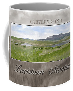 Coffee Mug featuring the digital art Carter's Pond by Susan Kinney