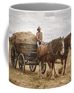 Carting Hay Coffee Mug