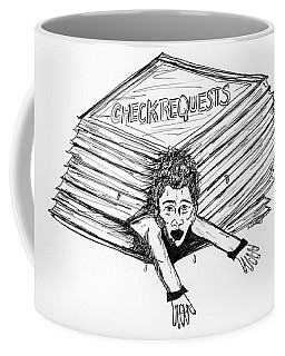 Cartoon Check Requests Coffee Mug