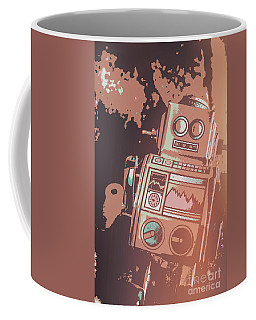 Cartoon Cyborg Robot Coffee Mug