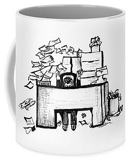 Cartoon Desk Coffee Mug