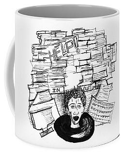 Cartoon Inbox Coffee Mug