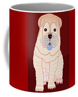 Cartoon Shar Pei Coffee Mug by Marian Cates