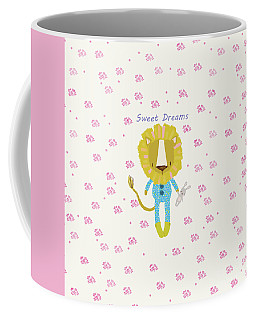 Cartoon Sweet Dreams Lion Coffee Mug