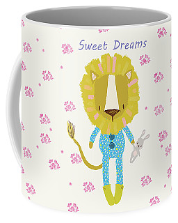 Cartoon Sweet Dreams Lion Coffee Mug